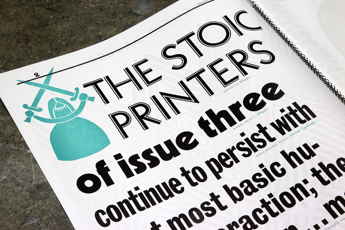 Double Dagger Issue 3 Stoic Printers